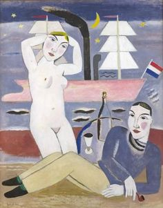 De Zeearend - 1926 by Gustave de Smet (Belgian 1877 – 1943)