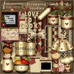 Cook in the Kitchen scrapbook transparent clip art graphics commercial use png