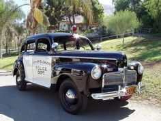 1942 Ford Police Car, City of El Cajon