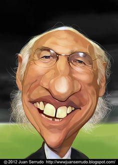 Caricatura de Carlos Bianchi.