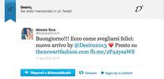"Desirù Twitter ""The new art of fashion"""