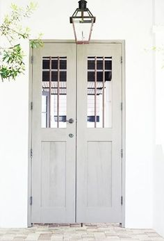 One thing that many people overlook when remodeling their home is their interior doors. Doors do more than offer privacy; they also offer another way to incorporate design elements into your home… Interior Barn Doors, Exterior Doors, Interior And Exterior, Gray Exterior, Exterior Paint, Door Entryway, Entrance Doors, Detail Architecture, Grey Doors