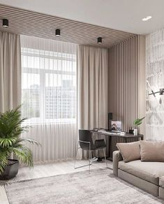 24 awesome minimalist living room decor ideas 18 ~ Home And Garden Ceiling Design Living Room, Home Room Design, Home Interior Design, Living Room Designs, Living Room Decor, Apartment Interior, Room Interior, Paint Colors For Living Room, Minimalist Living