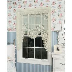 "Lark Manor Genet Swag Curtain Valance Size: 38"" H x 72"" W, Color: Ecru"