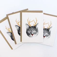 So into this design on Fab! Holiday Cat-a-lope Cards Holiday Cards, Christmas Cards, Holiday Ideas, Christmas Stuff, Christmas Ideas, Crazy Cat Lady, Crazy Cats, Cat Cards, Here Kitty Kitty