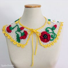 Hey, I found this really awesome Etsy listing at https://www.etsy.com/listing/482529067/peter-pan-crochet-collar-crochet