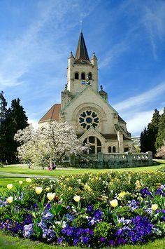 Pauluskirche is a reformed church in neo roman style in Basel, Switzerland Copyright: Daniel Solinger