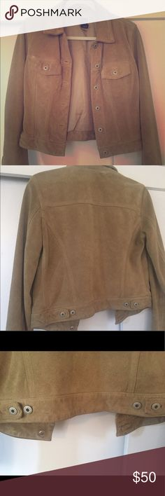 Tan Genuine Suede Jacket Amazing condition. This vintage Gap piece is SO comfortable and roomy for a size small. It's used, but like new! GAP Jackets & Coats