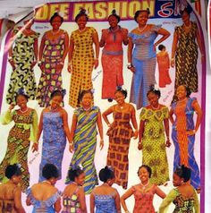 When you get a dress made in Ghana, you point to the style you want.