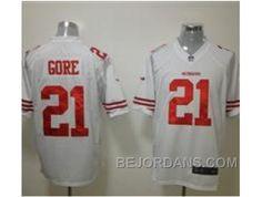 http://www.bejordans.com/free-shipping-60-off-nike-nfl-san-francisco-49ers-21-frank-gore-white-game-jerseys.html FREE SHIPPING ! 60% OFF! NIKE NFL SAN FRANCISCO 49ERS #21 FRANK GORE WHITE GAME JERSEYS Only $20.00 , Free Shipping!