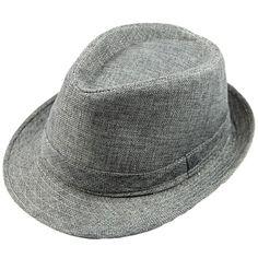 d2573fa5c65 Men Women Unisex Summer Beach Hat Sun Jazz Panama Gangster Cap Trilby Fedora  Beige