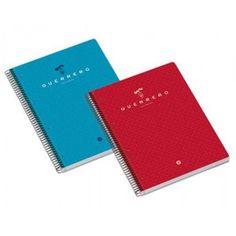 Cuaderno GUERRERO con cubierta dura en colores surtidos.  Con 160 hojas de cuadricula 5, microperforadas y con 4 taladros.  Tamaño: DIN A-4