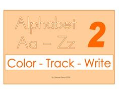 Part Two.Just learning the alphabet? Color, Track, and Trace your way through the alphabet.2 pictures for each letter of the alphabet, both in upper and lower case letters.106 page file.The pictures in this file are different from the first book.