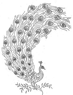 Simple Stained Glass Peacock Pattern | also found this illustration of a peacock that I really want to ...