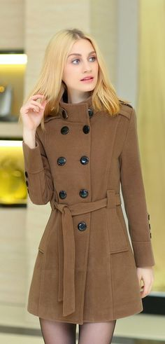 Winter Double Breasted Wool Coat YRB0567