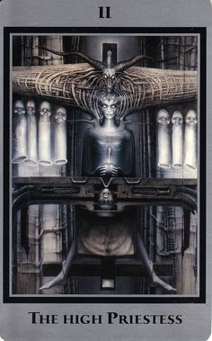 H.R. Giger Religion   ii the high priestess baphomet tarot of the underworld by h r giger