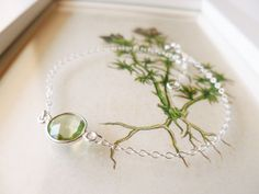 Green Amethyst Bracelet  Green Amethyst and by PoppyandGwyn