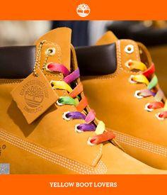 Um detalhe para mudar o estilo das suas Yellow Boots, cadarços coloridos! #Timberland_br