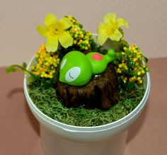 Pokeball Terrarium Sleeping Squishy Diorama Pokeball with