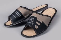 Mens Leather Slippers #10