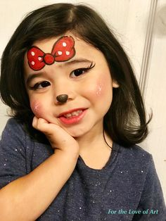 Minnie Mouse Face Painting, Face Painting Unicorn, Girl Face Painting, Body Painting, Tiger Makeup, Face Paint Makeup, Face Painting Halloween Kids, Painting For Kids, Face Painting Tutorials