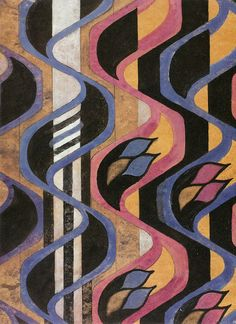 design-is-fine: Charles Rennie Mackintosh, textile design Furniture Fabric, Watercolour. © The Hunterian Museum and Art Gallery, University of Glasgow 2014 Textiles, Textile Patterns, Textile Design, Print Patterns, Charles Rennie Mackintosh, Surface Design, Mackintosh Design, Graffiti, Art Nouveau Pattern