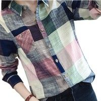 Cheap chemise femme, Buy Quality kimono vintage directly from China women blouses Suppliers: 2017 Casual Plaid Women Blouses Kimono Vintage Linen Cotton Long Sleeve Blouse Female Shirts Tops Camisa Feminina Chemise Femme Plaid Shirt Women, Plaid Shirts, Shirt Blouses, T Shirt, Plaid Flannel, Flannel Shirt, Kimono Vintage, Vintage Linen, Blouse Kimono