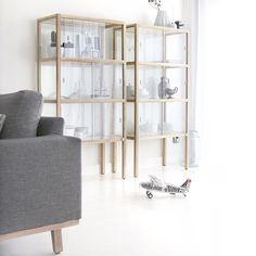 HKliving Show Case Cabinets via mydeer.nl