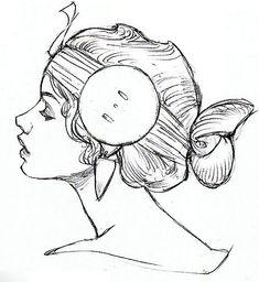 Star Wars Concept Art #mujer #peinado #perfil