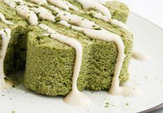 matcha cake - shamrock cashew glaze
