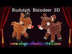 Rainbow Loom Penguin 3D Charms - How to Loom Bands Tutorial Christmas/Holiday/Winter/Animal - YouTube