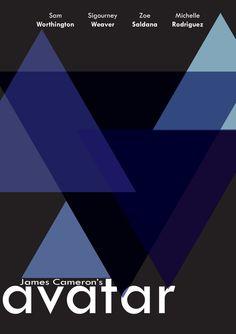 Avatar (2009) ~ Minimal Movie Poster by Jayden Collins #amusementphile