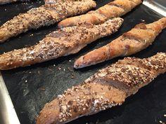 Backen mit Christina … | Dinkelkornspitz Ciabatta, Sausage, Meat, Baking, Pizza, Trends, Breads, Finger Food Recipes, Baking Buns