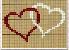 **Blog Amor Perfeito** Gráficos de ponto cruz: Corações