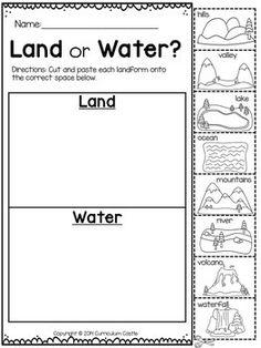 Bodies Of Water Worksheets For Kindergarten
