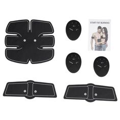 Qiilu Abs Stimulator Abdominal Muscle Toner Wireless Intelligent EMS Muscle Toning Belt Body Building Smart Fitness Exercise for Men Women Home Gym Office Great Ab Workouts, Effective Ab Workouts, Lower Ab Workouts, Toned Abs Workout, Abs Workout Routines, Bodybuilding Supplements, Bodybuilding Workouts, Ems, Office Exercise