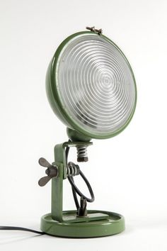 Cesare Leonardi and Franca Stagi; Glass and Enameled Metal 'Jeep' Table Lamp for Lumenform, 1969.