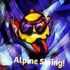 """Alpine Skiing  Hello! I saw """"Alpine Skiing"""" first time on TV! I amazed their great speed and jumping!  I hope try Alpine Skiing after I conquered the Earth!  #mizumushikun   #alpine   #skiing   #speedy   #art   #olympicgames"""