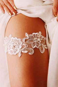 Exquisite Wedding Garters For Perfect Wedding Look ❤ See more: http://www.weddingforward.com/wedding-garters/ #weddings