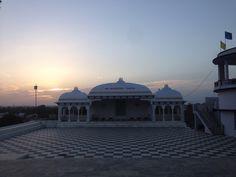 Beautiful sunset with a beautiful structure of #Loardsai temple In #Banswaracity