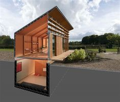Container House - Rooijakkers Tomesen Architecten Lightcatcher - Maisons particulières Who Else Wants Simple Step-By-Step Plans To Design And Build A Container Home From Scratch? Sunken bedroom for safetyCan also switch Bottom & top floor's function Tiny House Cabin, Tiny House Design, Modern House Design, Simple House Design, Contener House, Wood House Design, Tiny House Living, Cabin Homes, Floor Design