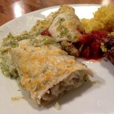 Verde Enchiladas with Halibut or Chicken - reportedly the best enchiladas ever