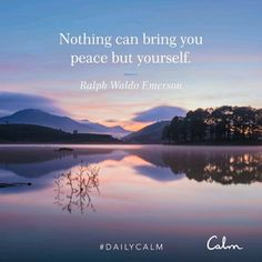 Daily Calm, Life Affirming, Calm Quotes, Ralph Waldo Emerson, Positive Mind, Mindfulness Meditation, Great Quotes, Fun Facts, Bring It On