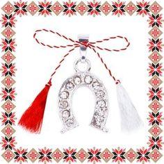Martisor Pandantiv Potcoava Norocoasa Alba Tassel Necklace, Jewelry, Floral Drawing, Jewlery, Jewerly, Schmuck, Jewels, Jewelery, Fine Jewelry