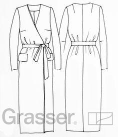 Выкройка платья, модель №229, магазин выкроек grasser.ru
