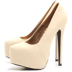 AX Paris Faux Suede Platform Shoe (185 BRL) ❤ liked on Polyvore featuring shoes, pumps, heels, sapatos, zapatos, platform shoes, platform pumps, heels & pumps, heel platform shoes and platform heels pumps