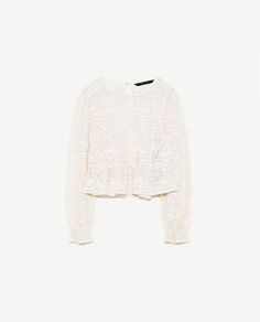 Image 6 of EMBROIDERED ORGANZA TOP from Zara