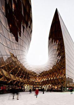 Emporia – Malmö Einkaufszentrum mit Bernstein Haupteingang #modernarchitecture #modernearchitektur #architektur
