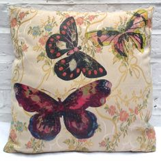 Vintage Butterfly Cushion By Anna Ashurst   Swanky Maison