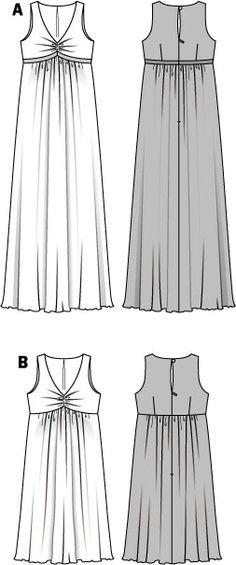 B7630 Burda Style, Dress  Maternity